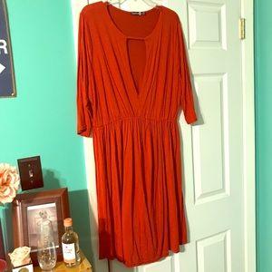 Burnt orange dress-Only worn ONCE